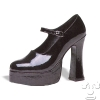 Mary Jane Platform Shoes (Black)